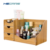 HECARE Jewelry Container Modern Home Wooden Storage Box Handmade DIY Assembly Case Cosmetic Organizer Makeup Organizer