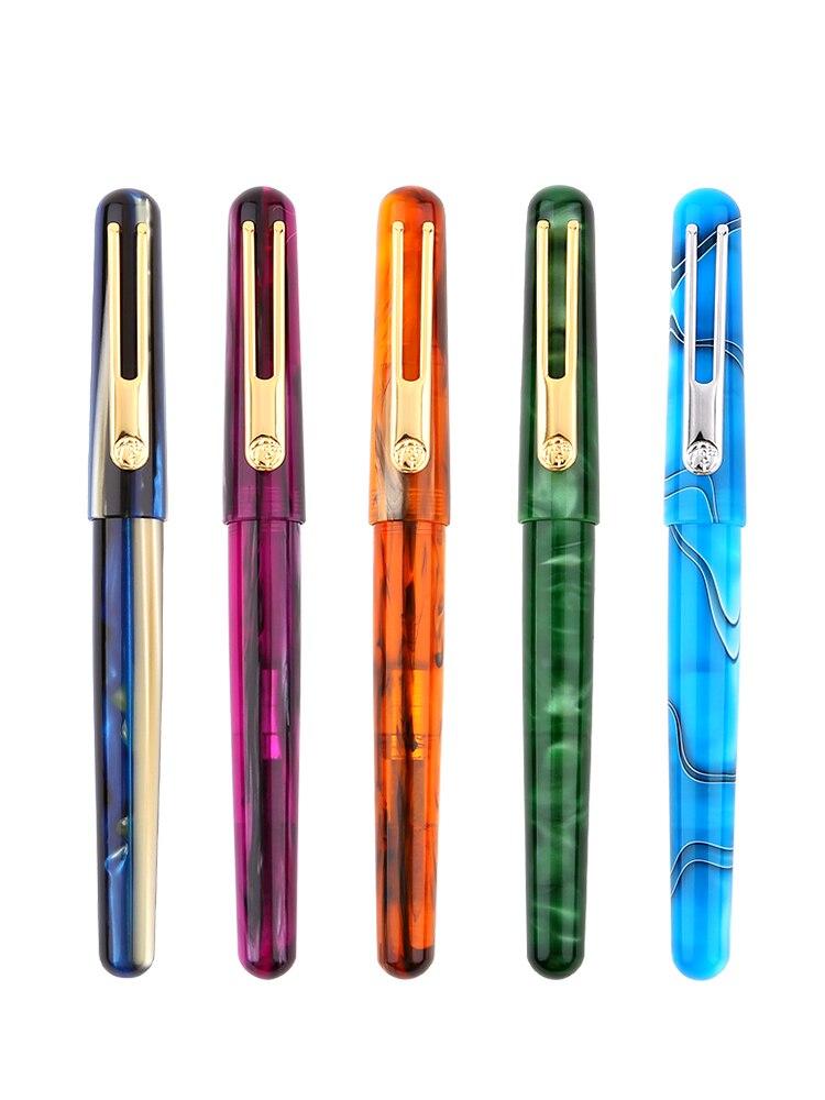 Nouveau Picasso Celluloid stylo-plume Aurora PS-975 Iridium F Plume stylo à encre D'écriture stylo cadeau pour les Affaires Scolaires de Bureau