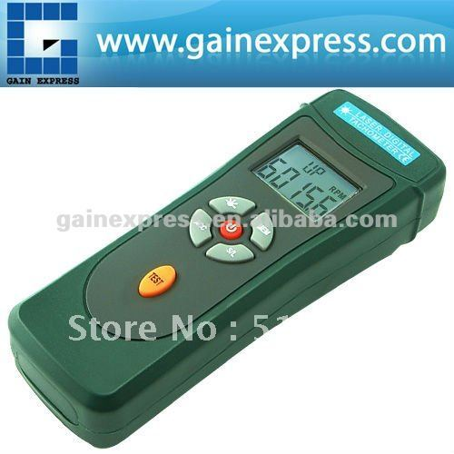 Photoelectric Distance Digital Non Contact Laser Tachometer RPM Tach Counter Tester Rotation Speed Measurement  99 999RPM Range laser type tachometer portable digital tachometer