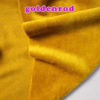 Goldenrod Knitted Cotton Fabric Flannelet Fabric Span Velour Thermal Underwear Fabric Hoodies By The Yard Free