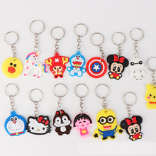 Cartoon Keychain Key-Ring Pendant Gift Cute Toy Fashion 10pcs Charms Kids
