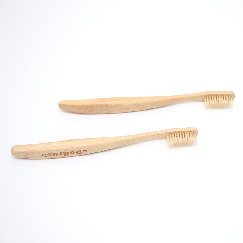 2PCS FDA Certification Soft Bristle Big Handle Adult Eco Friendly Natural Bamboo Toothbrush Tooth Brush image