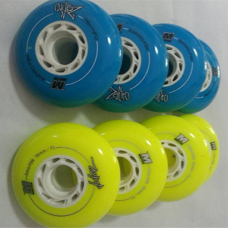 Japy Skate Powerslide EVO Matter Wheels Yellow 72 76mm F1/ Yellow 80mm Blue F0 Slalom Braking Roller Skating Tires SEBA IGOR