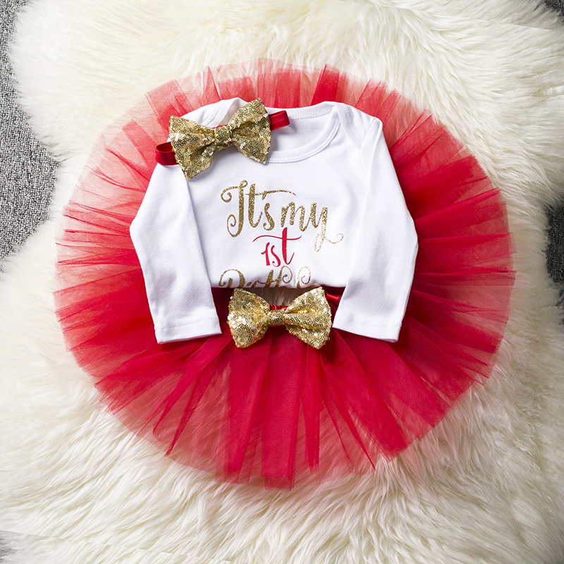 One Little Baby Cute Tulle 1st Birthday Dress Infant Toddler Girl Party Clothing Baptism Outfits Princess Costume for 1 Year Gir 1 year tutu baby girl clothing sets infant romper tulle skirt headband kids party costume bebes one birthday outfits vestidos