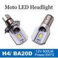 1X BA20D H4 LED moto phare universel ampoule de phare pour BMW R1100 Suzuki Burgman AN650 Vespa GTS 250 Yamaha FZ09