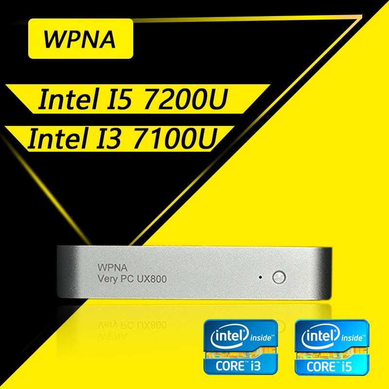 WPNA Nettop intel core  i3 i5 6100U 6200U 7100U 7200U HD Graphics 520 620 mini pc windows All In One Computer Office Desktop mini pc intel core i7 7500u i5 7200u barebone windows 10 mini computer desktop hd graphics 620 4k media player minipc