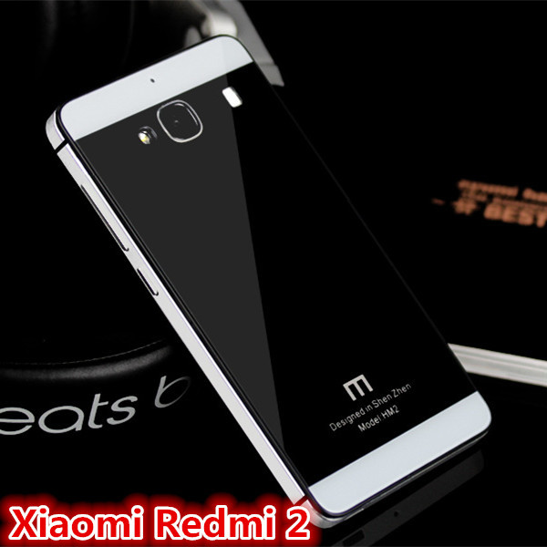 best website 333a0 9e868 US $16.99 |Xiaomi Redmi 2, Case For Xiaomi Red Rice 2,Hongmi 2A Metal  Aluminum&Tempered Glass&PC Phone Cover With Tracking Number on  Aliexpress.com | ...
