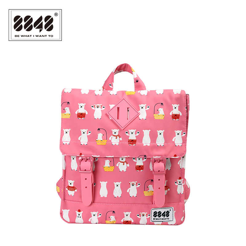 8848 3D Bear Children Backpacks kindergarten Schoolbag Animal Kids Backpack Children School Bags Girls Boys Backpack 440-055-005