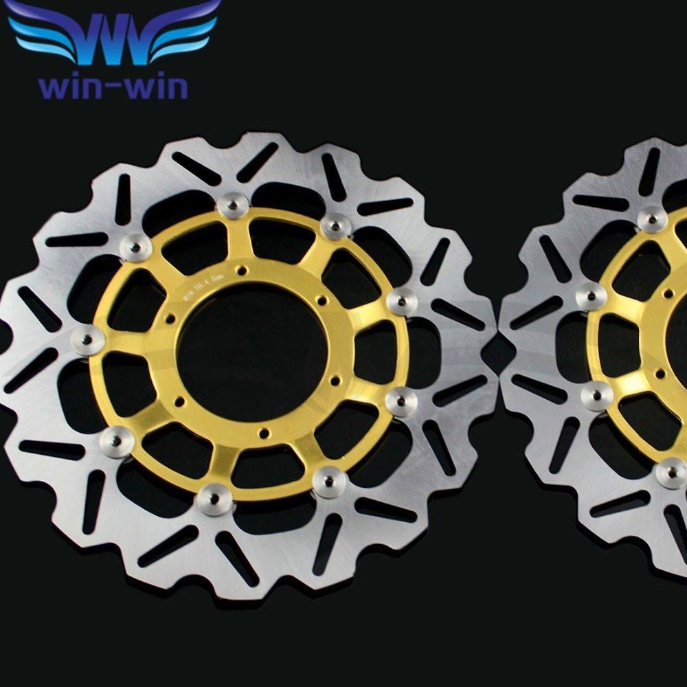2 pieces  motorcycle   Front  Brake Discs  Rotor  for Honda CBR600RR 2003 2004 2005 2006 2007 2008 2009 2010 2011 2012 2013 2014 kemimoto 2007 2014 cbr 600 rr aluminum radiator grille grills guard cover for honda cbr600rr 2007 2008 2009 2010 11 2012 13 2014