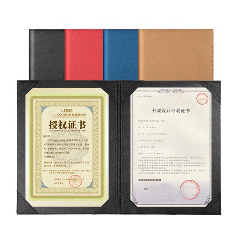 PU Faux Leather A4 Menus Cover File Folder Menu Folder Menu Organizer Holders For Conference Agreement Contract Folders 1310