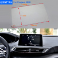 Car Styling 8 Inch GPS Navigation Screen Steel Protective Film For Peugeot 4008 Control of LCD Screen Car Sticker