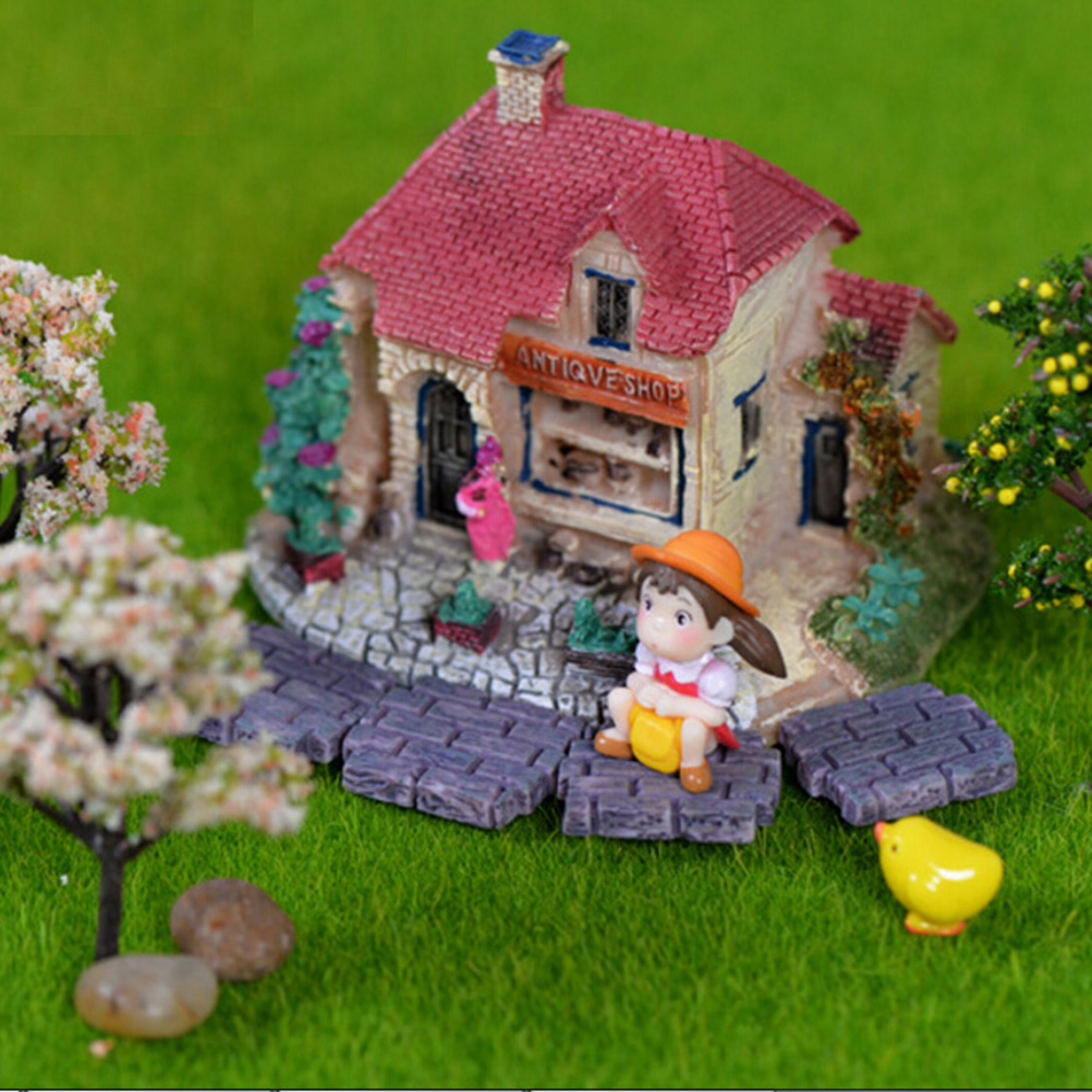 Decorative garden ornaments - New 10 Pcs Lot Small Brick Wall Micro Landscape Decoration Garden Ornament Decor Diy Crafts Moss Brick Material Accessories