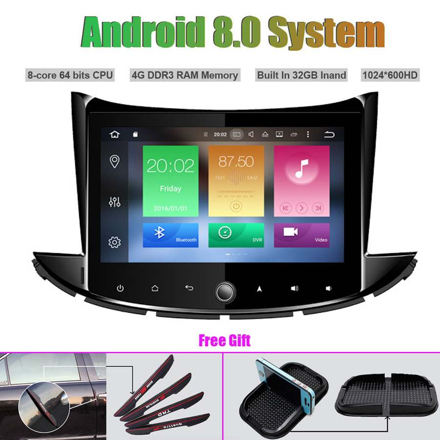 Octa Core Android 8 0 CAR Multi Media Player for CHEVROLET TRAX 2017