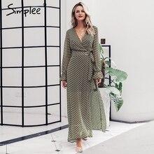 богемное SimpleeПростое V-образным платье