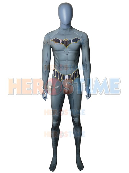 Newest Batman Cosplay Costume Spandex Printing Batman Superhero Zentai Suit Halloween Party Bodysuit No Mask
