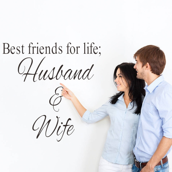 Best Friends For Life Husband And Wife Art Quote Wall Sticker