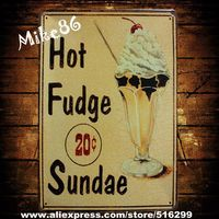 [ Mike86 ] Hot Fudge Sundae Ice cream Metal Poster Home Store Decoration AA-162 Mix order 20*30 CM