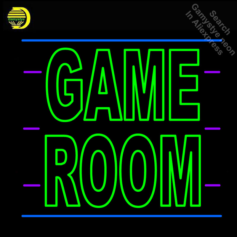 Neon Signs for Custom Game Room Letters Kids Play Neon bulb Sign Decorate Game Room wall Lamp Handcraft Glass Tubes Art Dropship image