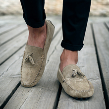 2019 Men's Driving Shoes Genuine Leather Casual Men Shoes Loafers Fashion Handmade Soft Breathable Moccasins Slip On Male Flats цена
