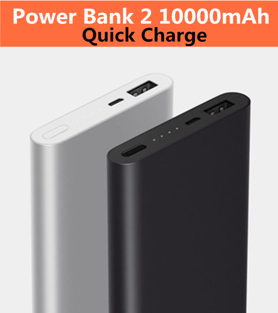 best sneakers 87fa0 dd0fb US $18.78 |Original Power Bank 2 10000mAh Quick Charge Powerbank External  Battery For iPhone 7 plus Xiaomi MIX Samsung S8 HUAWEI P10-in Power Bank ...