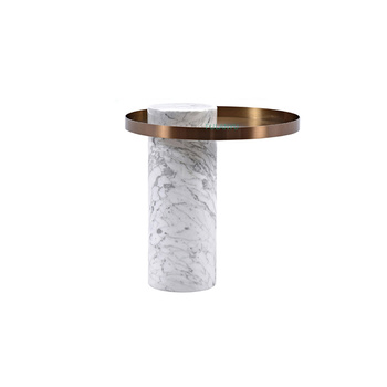 Round coffee table small coffee table Italian style Simple style coffee table