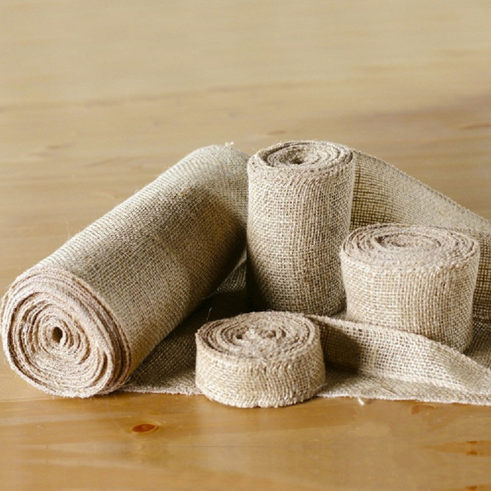 2 5 6cm width jute table runner burlap burlap fabric for Diy jute