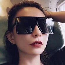 New Brand Big Square Men Sunglasses Women Cheap High Quality Balck Glasses Plastic Style oculos de sol feminino