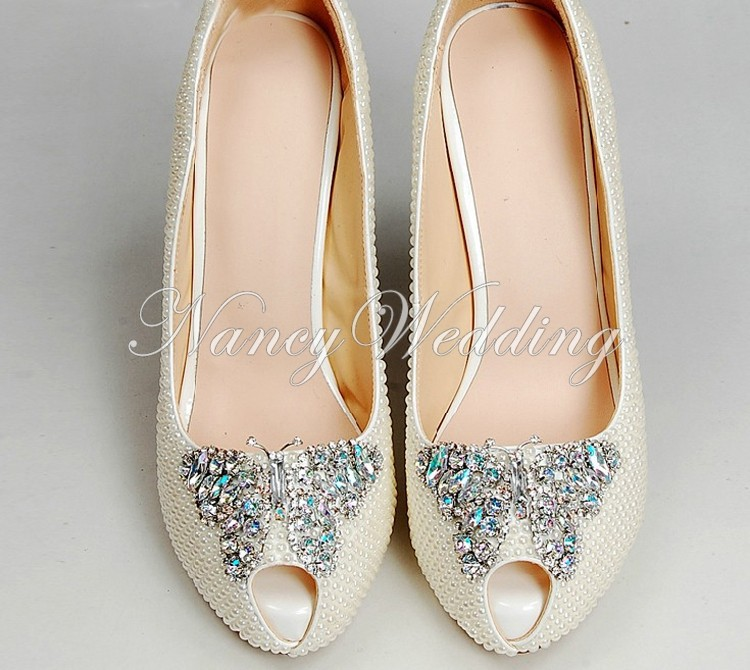 Peep Toe Ivory Shoes 003