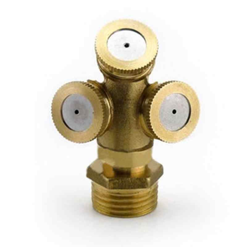 New 1/2 Brass Agricultural Mist Spray Nozzle Garden Irrigation System lawn Sprinkler Irrigation Nozzle Sprayer To Cool Dust