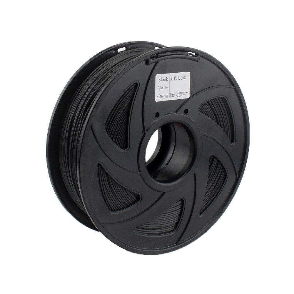 Creozone Premium Qualität Carbon Faser Filament Für 3d Drucker 1,75mm 1 Kg Spool Schwarz Farbe Für Prusa I3 Ragrap Perfekte Verarbeitung