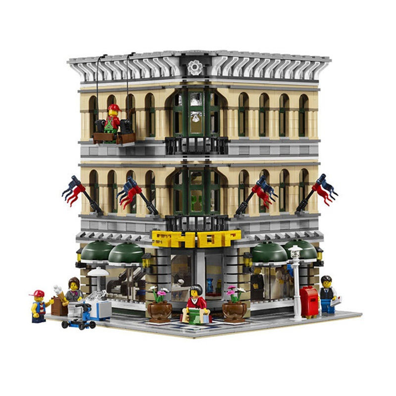 2016 New font b LEPIN b font 15005 2182Pcs City Creator Grand Emporium Model Building Kits