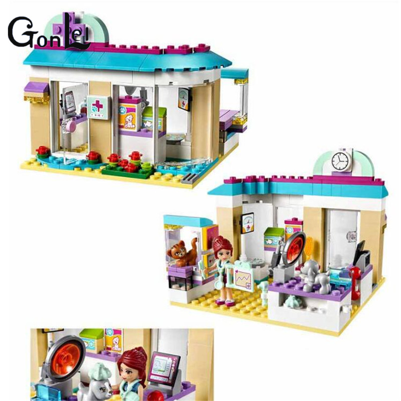 (GonLeI) 10537 203Pcs Friends Vet Clinic Model Building Blocks Kits Compatible With Bricks set Girl Toys 10534 np managed heart failure clinic model