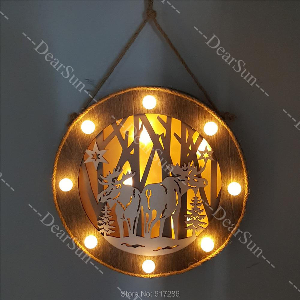 Light, Christmas, Creative, Decoration, Wooden, For