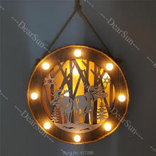 Creative Wooden Decoration with LED Light for Christmas Gifts Decorations