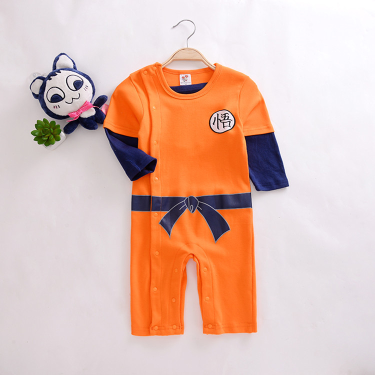 Dragon Ball Baby Rompers Newborn Infant Baby Boys LongSleeve Autumn Clothes Costume Outfits Long Sleeve Jumpsuits baby rompers winter star patter long sleeve jumpsuits infant boys girls clothes newborn toddler costume children autumn clothing