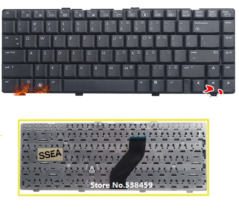 SSEA New US Keyboard Black For HP Compaq Presario V6000 V6100 V6200 V6300 V6400 V6500 V6600 V6700 F500 F700 Laptop Keyboard