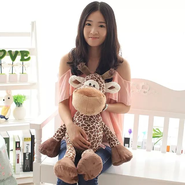 big lovely stuffed giraffe toy plush jungle giraffe doll gift doll about 78cm hot sale popular women scrub leather design cross body bag girls shoulder bag female small flap handbag top handle bags