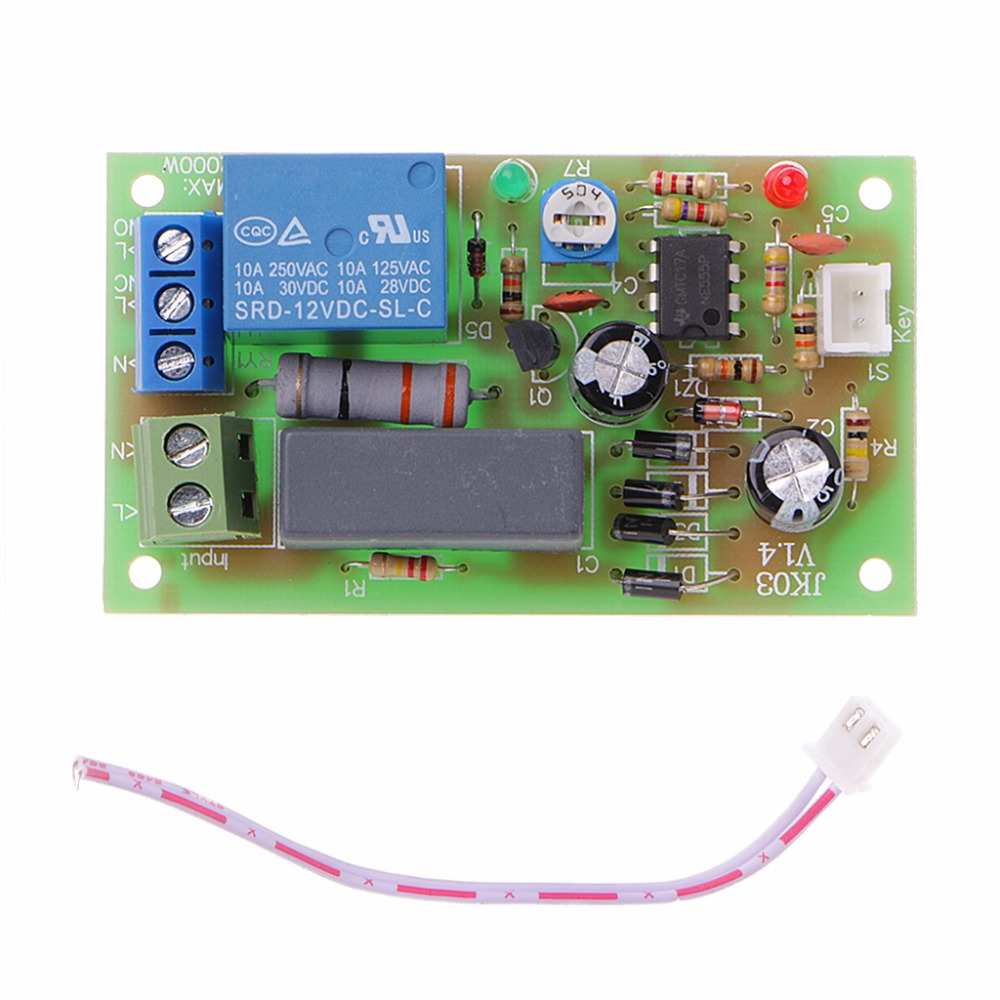 AC 220V Trigger Delay Switch Turn On Off Board Timer Relay Module PLC Adjustable Integrated Circuits