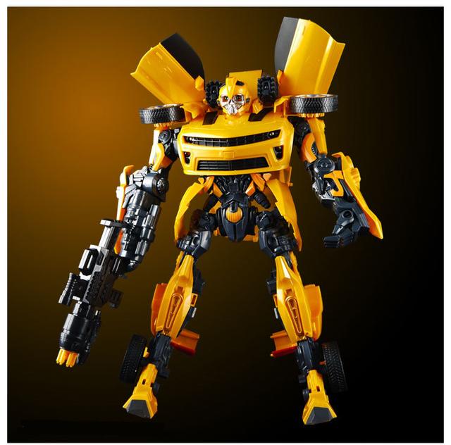 42 cm modelo de Coche Bumblebee acción juguetes Robocar Transformación Robots juguetes de Niño Juguetes Clásicos Figuras de Acción Regalos Para Los Niños