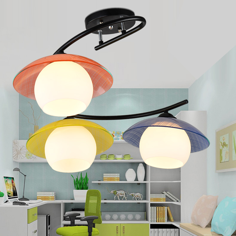 LED children room creative cartoon boy girl room dome light modern children bedroom lamp lamp droplight 220v @ -9 led suction dome light fashion cartoon study bedroom children s room lights