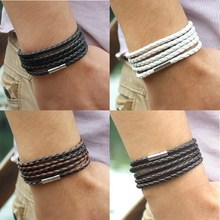 5 layer Leather Bracelets & Charm Bangle