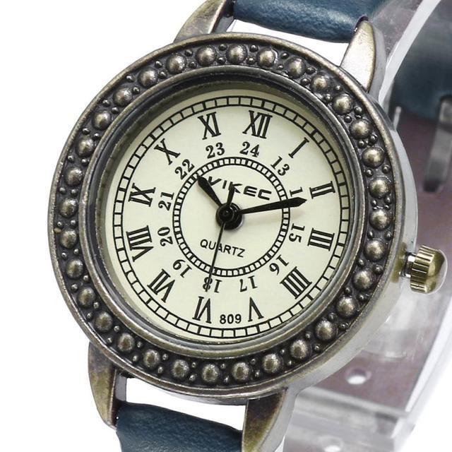 עסקי עור ספרות רומית גבירותיי שעוני יד טמפרמנט יפה מזכרות פשוט אופנה בנות נשים של קוורץ שעון # D