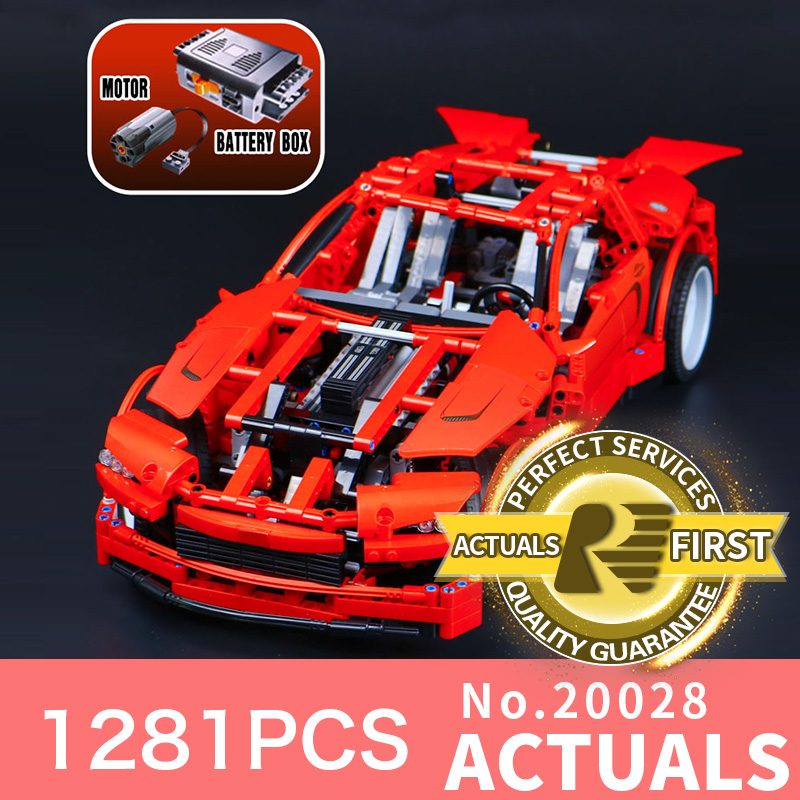 1281Pcs Lepin 20028 Technic series Super Car assembly toy car model DIY Brick Building Block toy gift for boy  gift model 8070 police station park diy track car parking building block toy boy gift learning
