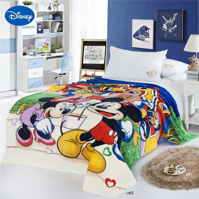 Disney Mickey Mouse Donald Duck Print Blankets 150*200CM Boys Bed ...