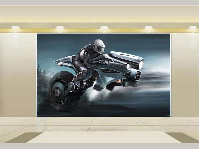 Custom mural wallpaper room 3d photo wallpaper Motorcycle racer HD painting 3d photo sofa TV background wall non-woven wallpaper 3d photo wallpaper custom room mural non woven sticker retro style bookcase bookshelf painting sofa tv background wall wallpaper
