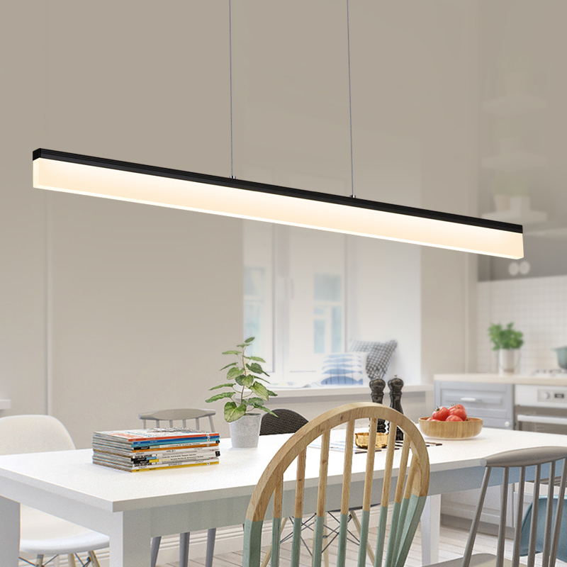 2017 L1200mm 24W Modern LED pendant lights for dinning Kitchen room bar hanging suspension luminaire AC85-265V pendant lamp