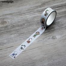 Homegaga cartoon dogs kids funny Washi tape diy Scrapbooking Adhesive Paper Masking Tape Printed Patterns stickers D1975