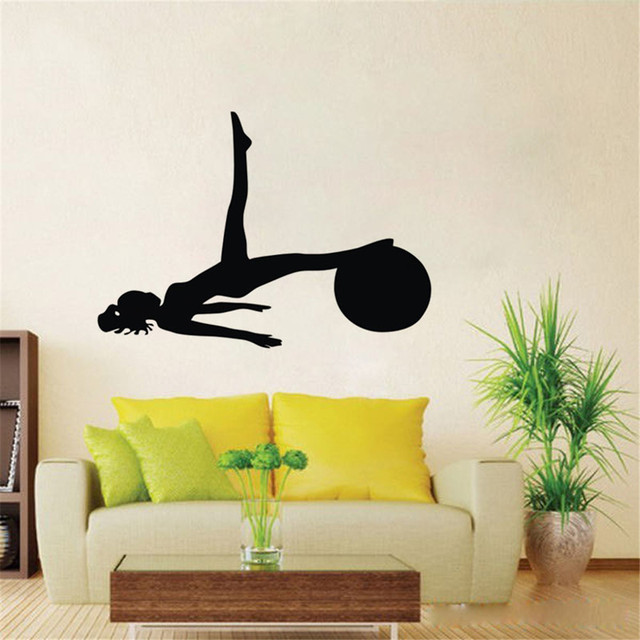Aliexpresscom Buy Women With A Ball Pilates Wall Decals Vinyl - Lego wall decals vinylaliexpresscombuy free shipping lego evolution decal wall