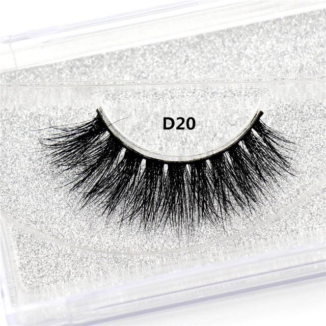 LEHUAMAO Mink Lashes 3D Mink False Eyelashes Long Lasting Lashes Natural Lightweight Mink Eyelashes Fluffy Dramatic Eye Makeup 2