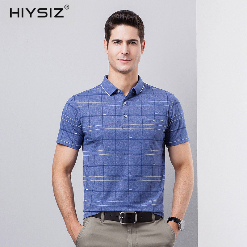 HIYSIZ Brand New 2019 Men 39 s T shirt 100 cotton Tshirts Streetwear Arrival Summer Style Turn down Collar Men t shirt tops ST189 in T Shirts from Men 39 s Clothing